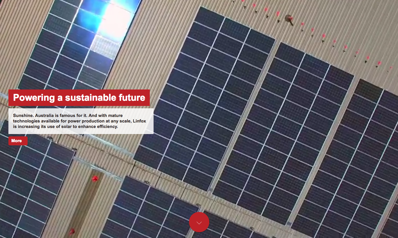 Image for Powering a sustainable future in Linfox's Solutions magazine